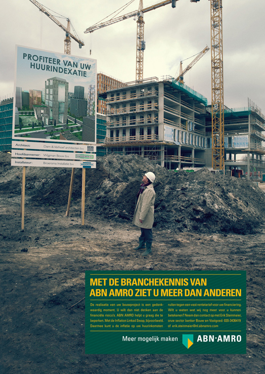 ABN BANK photography fotografie bouw sectoren Dutch advertising Photography reklame fotografie werbung commercial