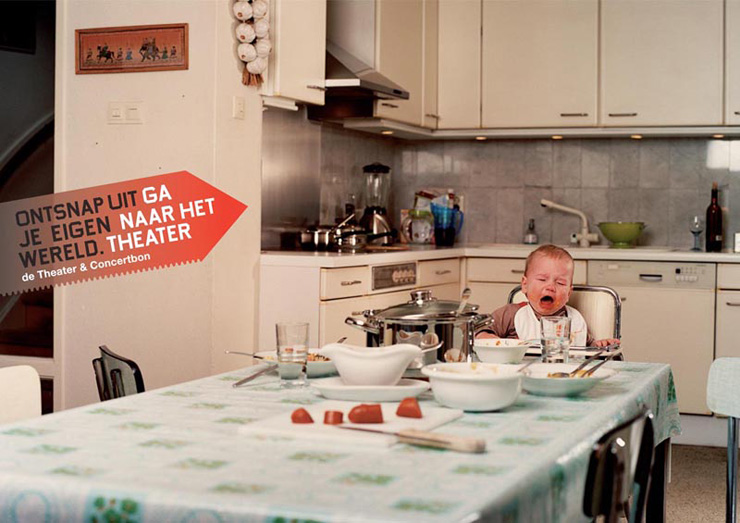 Buro Promotie Podiumkunsten Go to the theater crying baby child kid weinen  Rene Nuijens Dutch Advertising Photography Netherlands Holland -KesselsKramer Amsterdam