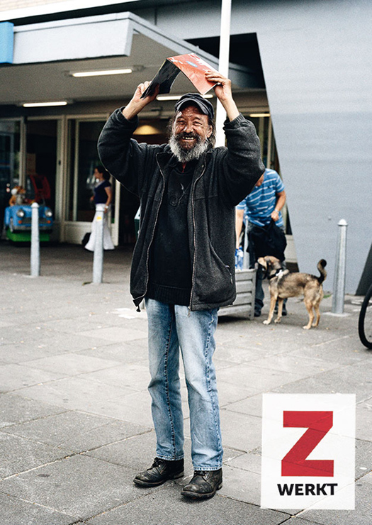 ZKRANT Alan homeless newspaper the Big issue Amsterdam the Netherlands advertising photography photographer